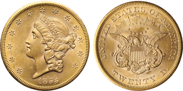 1855-S $20