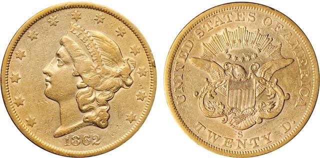 1862-S $20