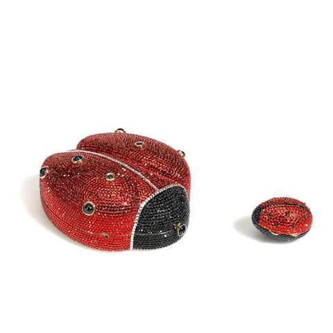 A Judith Leiber crystal ladybug minaudière
