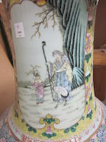 A massive famille rose enameled vase 20th century