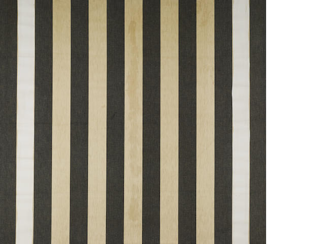 DANIEL BUREN (b. 1938) Untitled, 1987 acrylic on cotton 48¼ x 52¼in. (122.5 x 132.7cm)