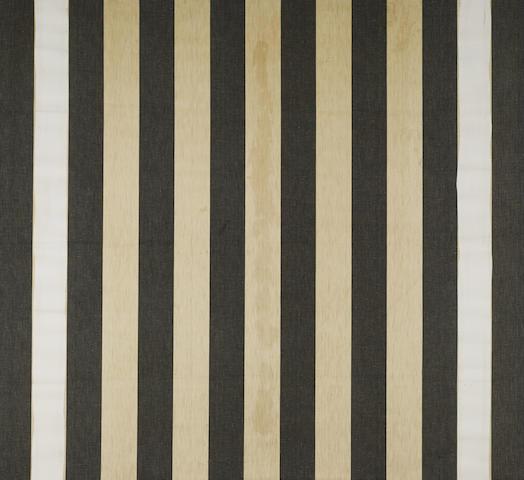 DANIEL BUREN (b. 1938) Untitled, 1987 acrylic on cotton 48¼ x 52¼in. (122.5 x 132.7cm)