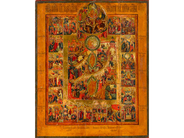 Icon of the Resurrection and Descent into LimboRussia, Palekh, c. 1800