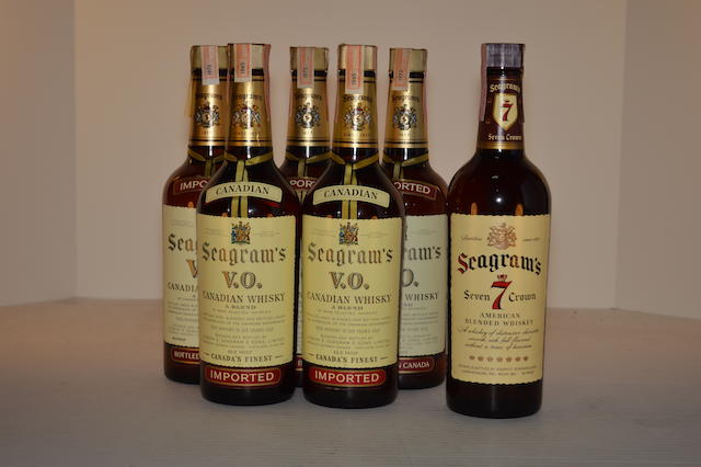 Seagram's VO (5)   Seagram's Seven Crown (1)