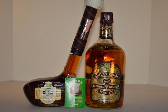 George Dickel Golf Club Decanter (1)   Chivas Regal 12 years old (1)