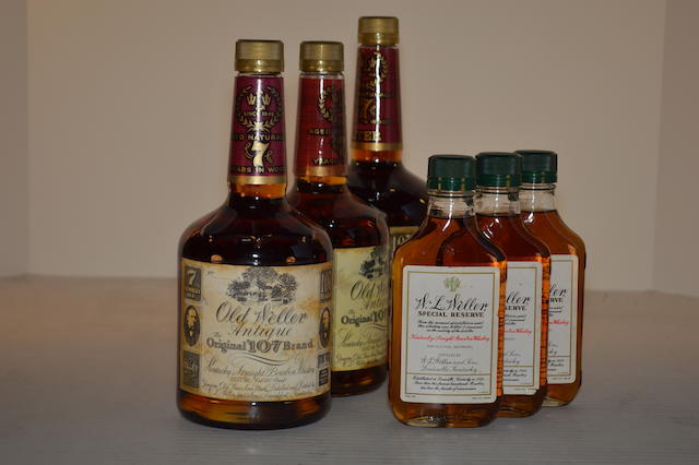 Old Weller Antique 7 years old (3)   Old WL Weller Special Reserve 7 years old (3)