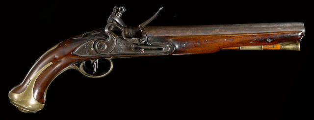 A rare Royal Forester's 1760/78 Pattern flintlock light dragoon pistol
