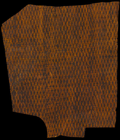 Rare Decorated Barkcloth Sample, Hawaiian Islands