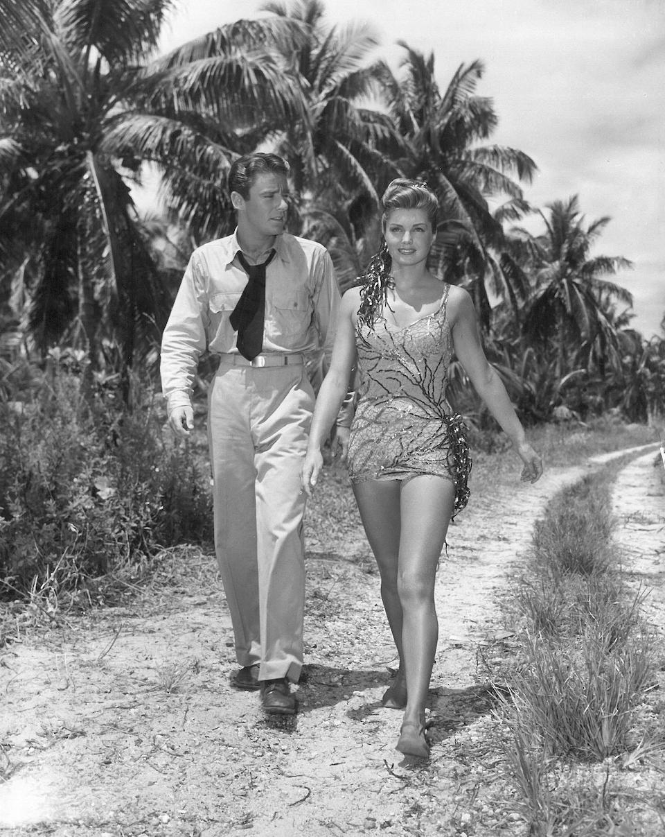 An Esther Williams sequined bathing suit from On An Island With You