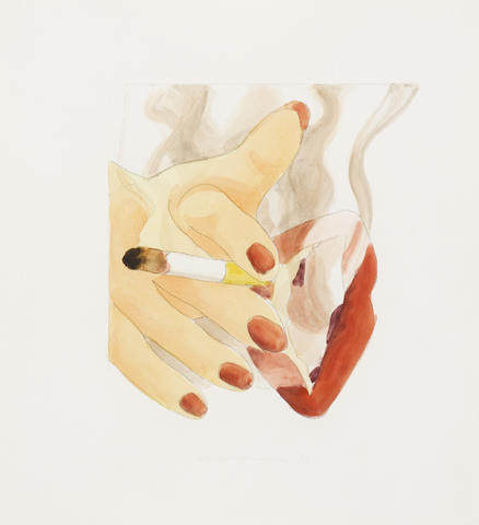 TOM WESSELMANN (1931-2004) Smoker Study, 1973