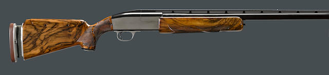 A scarce 12 gauge C.C. Seitz single barrel trap shotgun