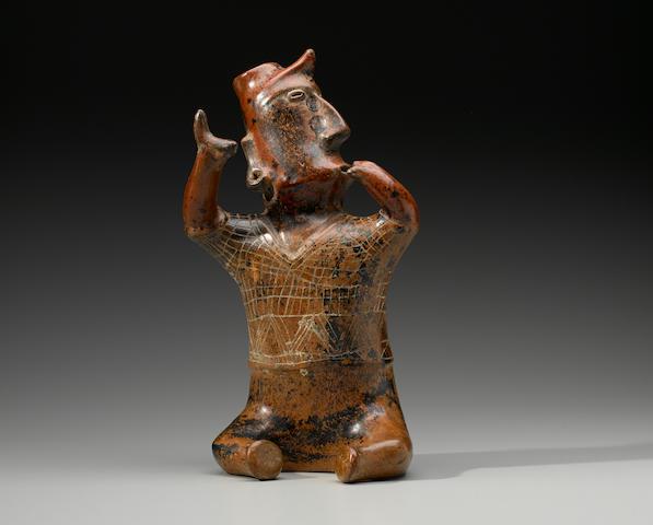 Colima Seated Shaman Protoclassic, ca. 100 B.C. - A.D. 250