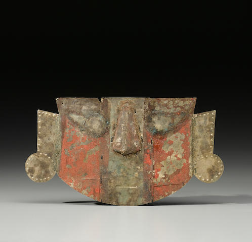 Chimu Funerary Mask, possibly Lambayeque Valley,Late Intermediate Period, ca. A.D. 1000-1400
