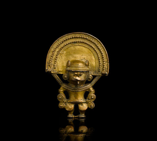 Tairona Gold Figure Pendant,  ca. A.D. 1000-1500