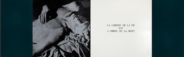 MARIE JO LAFONTAINE (b. 1950) La Lumiere de la Vie Est L'ombre de la Mort, 1989 (4 parts)