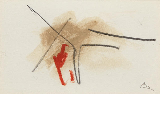 ROBERT MOTHERWELL (1915-1991) Untitled (from the Joyce Sketchbook), 1985