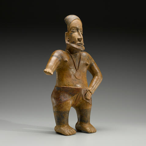Large Jalisco Standing Warrior, Ameca Style,  Protoclassic, ca. 100 B.C. - A.D. 250