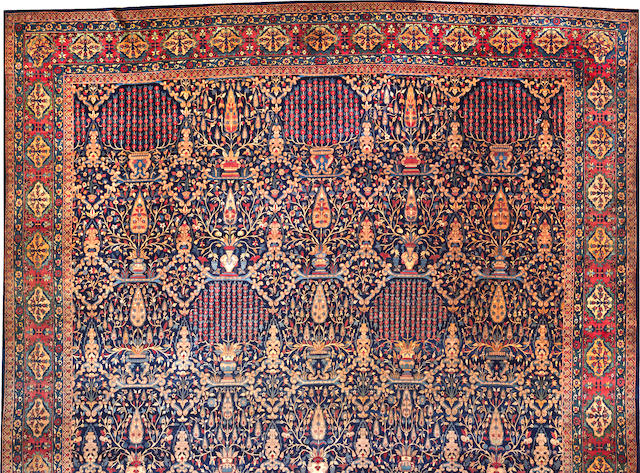An Indian carpet India size approximately 16ft. x 28ft. 7in.