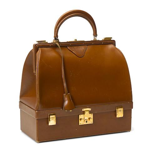 An Hermès brown leather Sac Mallette handbag