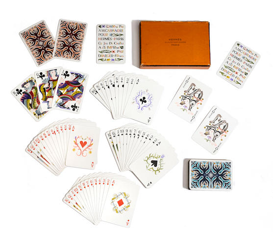 An Hermès boxed set of playing cards