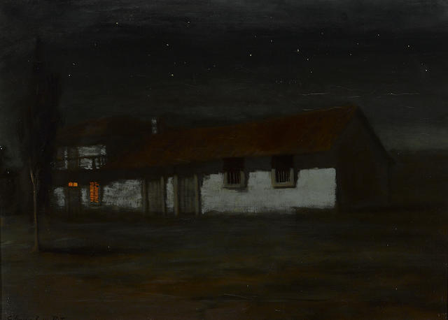 Charles Rollo Peters (American, 1862-1928) Adobe nocturne 20 1/4 x 28in
