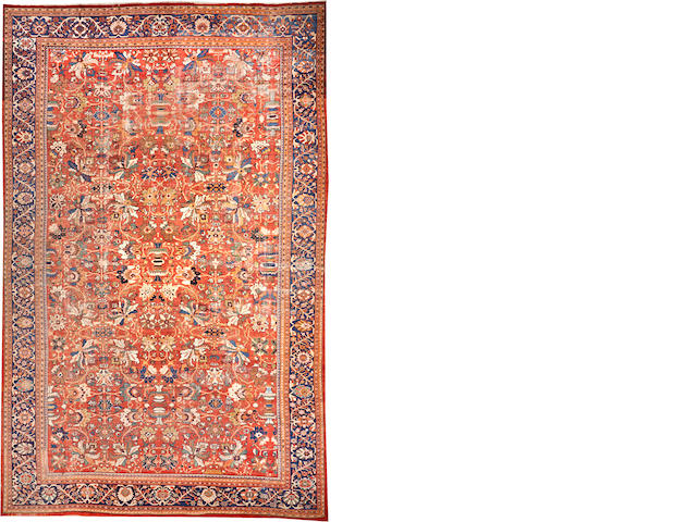 A Sultanabad carpet Central Persia size approximately 14ft. 1in. x 21ft. 1in.
