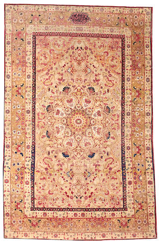 A Lavar Kerman rug South Central Persia size approximately 4ft. 2in. x 6ft. 6in.