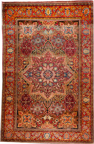 An Isphahan rug Central Persia size approximately 4ft. 6in. x 7ft. 1in.