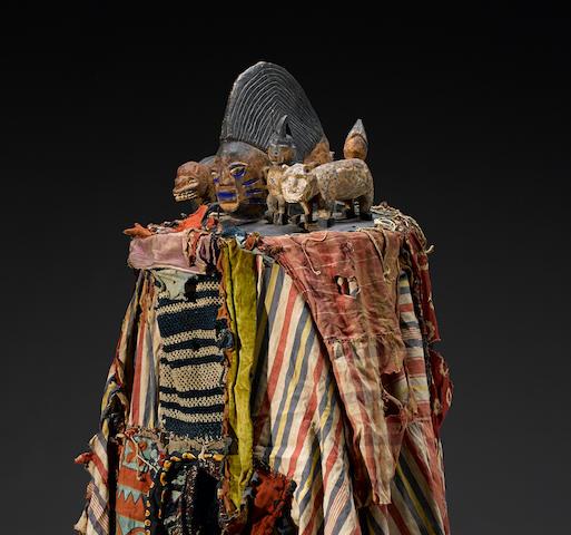 Yoruba Egungun Headdress and Costume, Nigeria