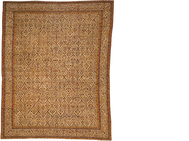 An Agra carpet India size approximately 10ft. 10in. x 14ft.