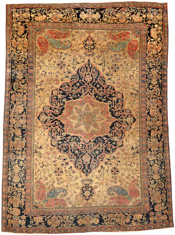 A Mohtasham Kashan rug Central Persia size approximately 4ft. 8in. x 6ft. 4in.