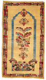A Turkish rug Turkey size approximately 3ft. 7in. x 6ft. 2in.