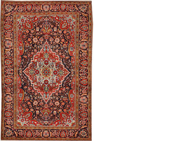 A Mohtasham Kashan rug Central Persia size approximately 4ft. 6in. x 6ft. 10in.