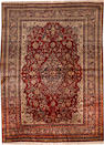 A Hadji Jalili silk Tabriz rug Northwest Persia size approximately 4ft. 7in. x 6ft. 2in.