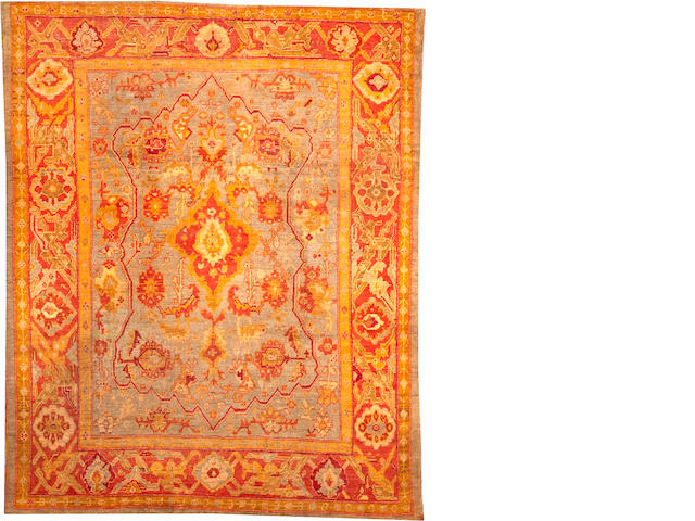 An Oushak carpet West Anatolia size approximately 9ft. x 11ft. 6in.
