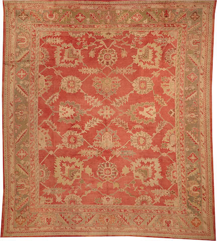 An Oushak carpet West Anatolia size approximately 12ft. 9in. x 14ft. 4in.