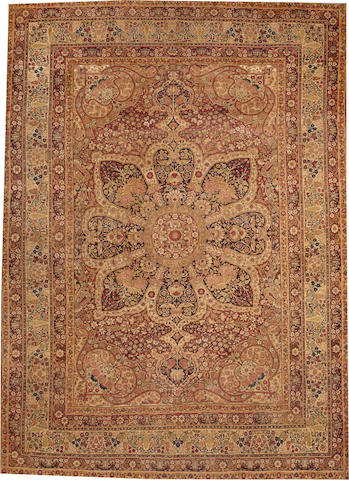 A Lavar Kerman carpet South Central Persia size approximately 11ft. x 15ft.