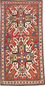 An Eagle Kazak rug Caucasus size approximately 4ft.2in. x 8ft.