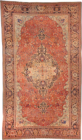 A Sarouk Fereghan carpet Central Persia size approximately 11ft. 8in. x 20ft.