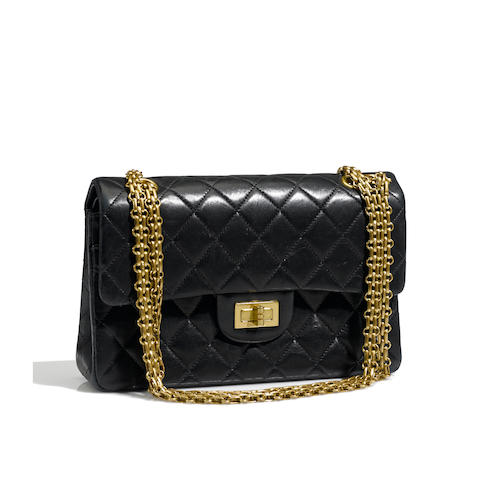 A Chanel midnight blue quilted leather handbag