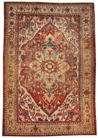 A Serapi carpet Northwest Persia size approximately 10ft. 10in. x 14ft. 10in.