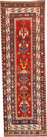 A Caucasian runner Caucasus size approximately 3ft. 3in. x 10ft.