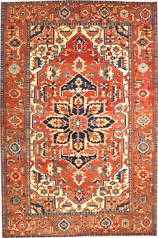 A Serapi carpet Northwest Persia size approximately 9ft. 10in. x 14ft. 8in.