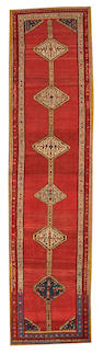 A Bakshaish runner Northwest Persia size approximately 2ft. 9in. x 11ft. 1in.