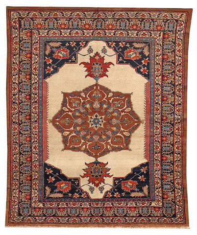 A Hadji Jalili Tabriz rug Northwest Persia size approximately 4ft. 2in. x 5ft. 9in.
