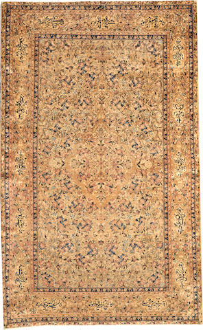 A Lavar Kerman rug South Central Persia size approximately 4ft. 6in. x 7ft. 3in.