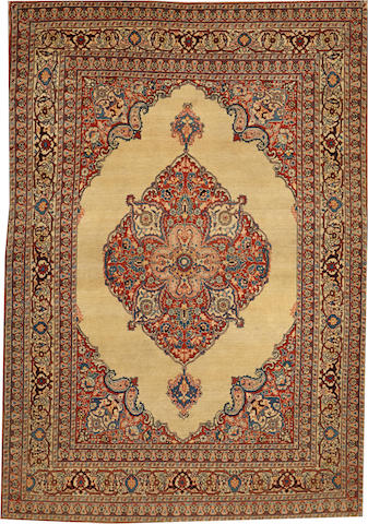 A Hadji Jalili Tabriz rug Northwest Persia size approximately 4ft. 1in. x 6ft.