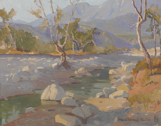 Marion Kavanagh Wachtel (American, 1870-1954) Arroyo stream 13 3/4 x 17 3/4in