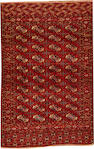 A Tekke rug Turkestan size approximately 4ft. 2in.x 6ft. 5in.