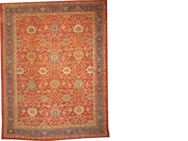 A Sultanabad long carpet Central Persia size approximately 6ft. 10in. x 14ft. 3in.